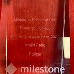award from Milestone